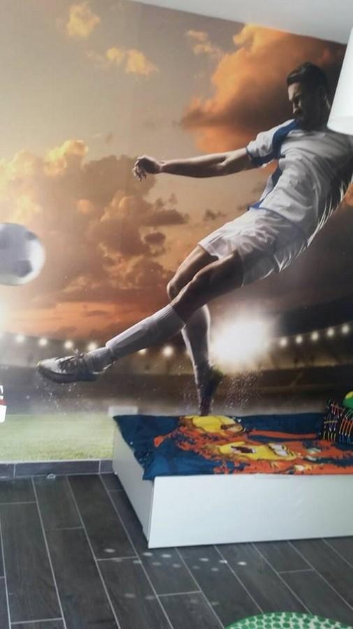 טפט לחדר ילדים נושא כדורגל